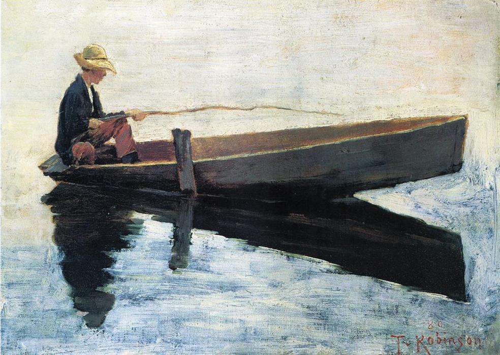 человек в лодке в море