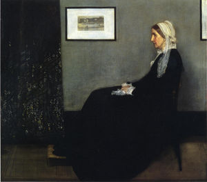 James Abbott Mcneill Whistler - композиция в сером и черном . Портрет Painter's Мама - (Репродукции картин)