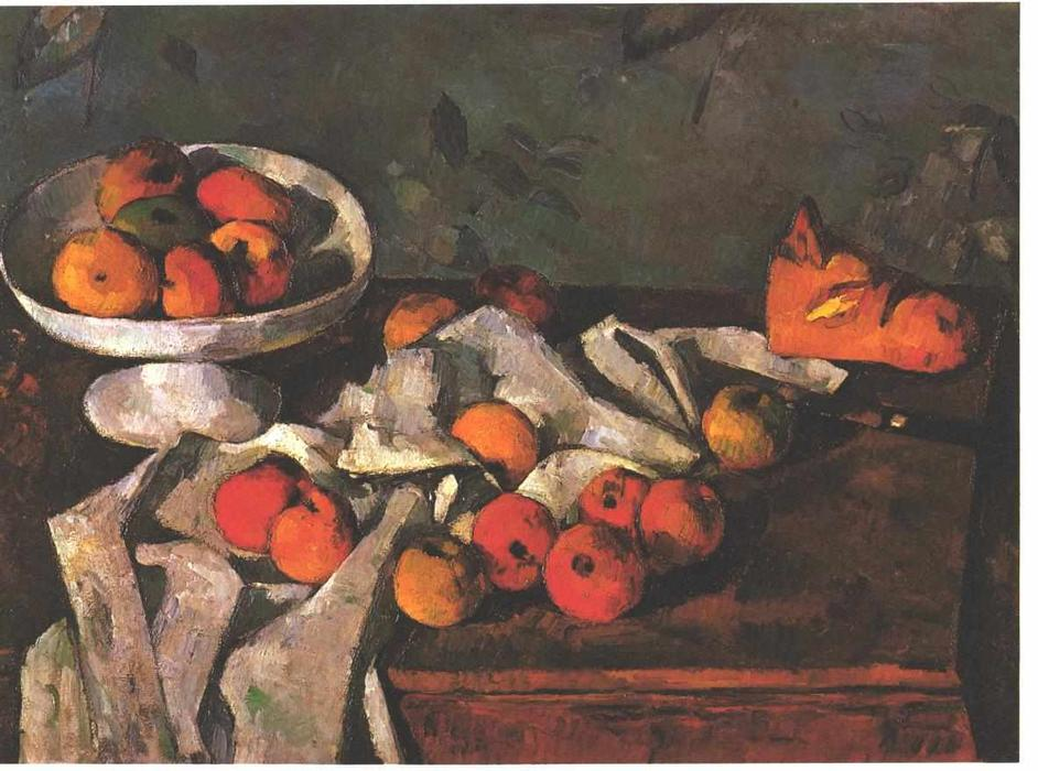 cezannes fruit and basket The basket of apples by paul cezanne is an 1893 still-life oil painting, popularly known for its disjointed point of view the painting has been portrayed as an impartial composition for its unbalanced parts.