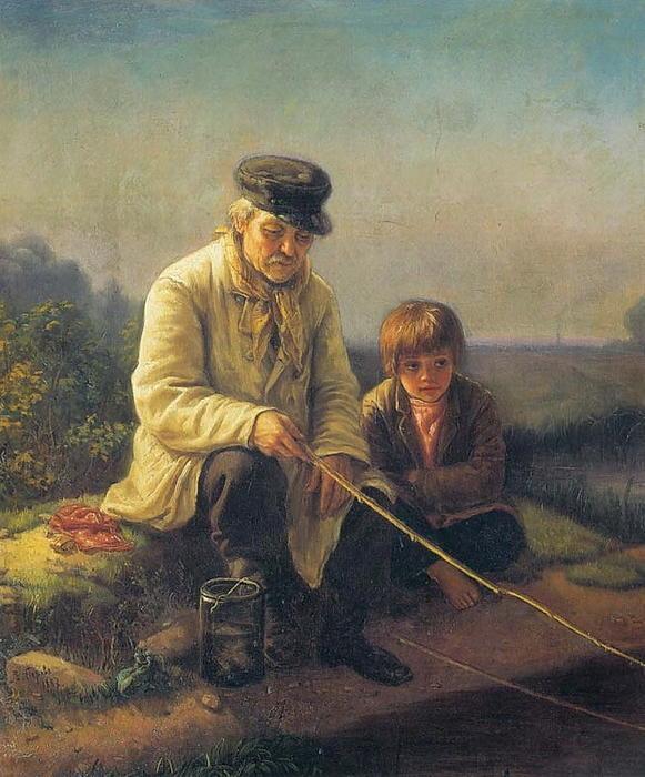 перов василий рыболов изображено